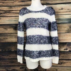 Anthropologie Tabitha fuzzy striped sweater sz S